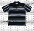 Black Pro Club Polo Shirt w/ double WHITE stripes