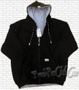Reversible Zipper Hood (Black/Gray)