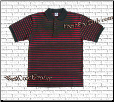 Charcoal Pro Club Polo Shirt w/ RED stripes