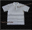 Gray Pro Club Polo Shirt w/ BLACK stripes