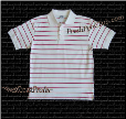 White Pro Club Polo Shirt w/ RED stripes