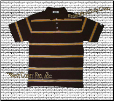 Pro Club Striped Polo (Brown)