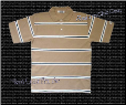 Pro Club Striped Polo (Khaki)