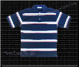 Pro Club Striped Polo (Navy)