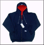 Reversible Zipper Hood (Navy/Red)