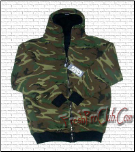Reversible Zipper Hood (Black/Camo)