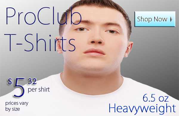 White Pro Club Shirts - Pro Club T Shirts White Tees