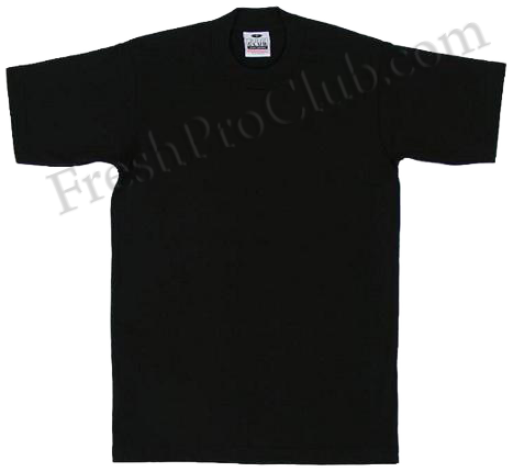 9499129b Black Pro Club T-Shirts - Heavyweight Pro Club T-Shirts