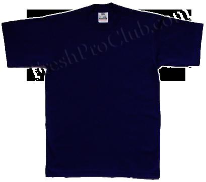 Navy pro club t shirts heavyweight pro club t shirts for T shirts for clubs