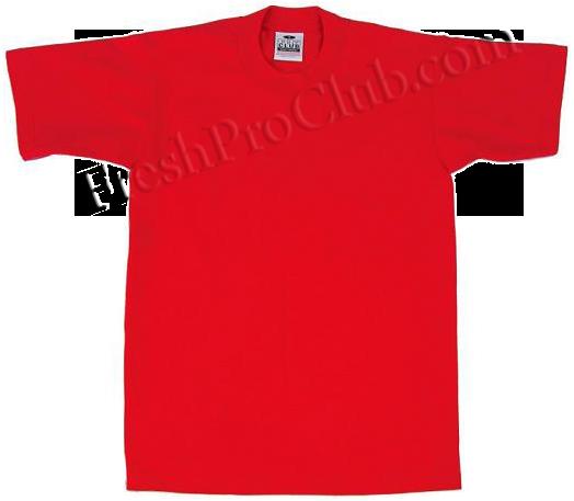 Red pro club t shirts heavyweight pro club t shirts for T shirts for clubs