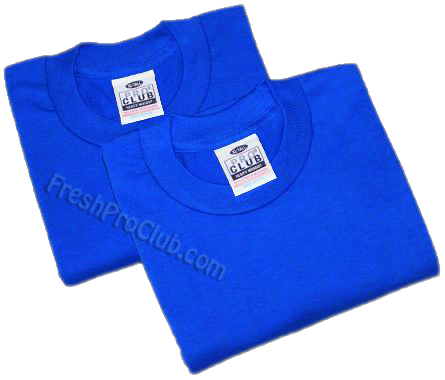 19dc7a51 Royal Blue Pro Club T-Shirts (2 T-Shirts)