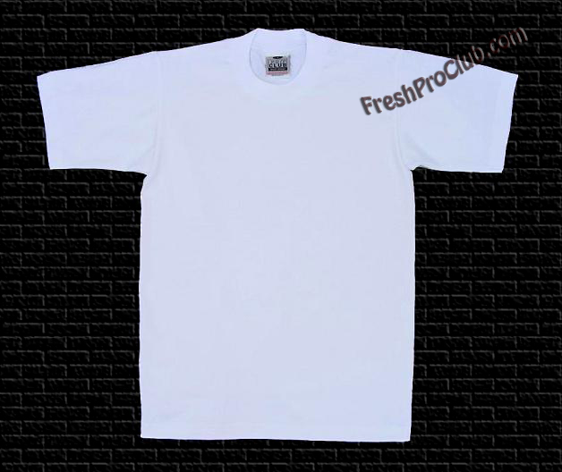 34295d89 White Pro Club T-Shirts - Heavyweight Pro Club T-Shirts