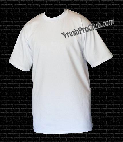 876fbe9715d White Pro Club T-Shirts - Heavyweight Pro Club T-Shirts